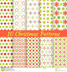 christmas different vector seamless patterns royalty free stock