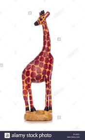 wooden giraffe ornament cutout stock photo royalty free
