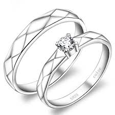 promise rings uk sterling silver name engraved couples promise rings set of 2