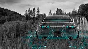 nissan skyline wallpaper 4k nissan skyline gtr r32 jdm back crystal nature car 2015 wallpapers