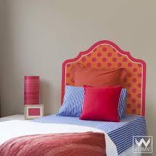 Polka Dot Pattern Headboard  Adhesive Removable Wall Decal For Bed