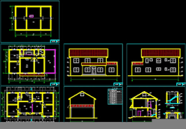2d Home Design Free Download Two Layers Of Small Rural Villa Cad Building Plans Free Download