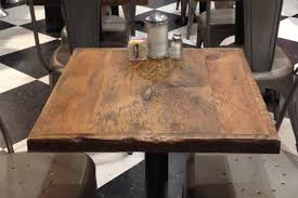 buy reclaimed wood table top excellent restaurant table top reclaimed wood bar top add a base