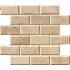 pebble tile natural stone tile the home depot beige cream mosaic tile tile the home depot