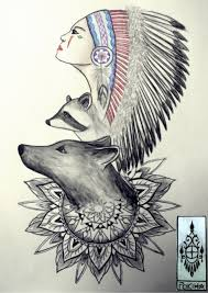 indienne loup pokiha by kittyshaun on deviantart