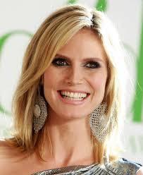 what face shape heidi klum heidi klum blonde medium layered haircut for straight hair popular