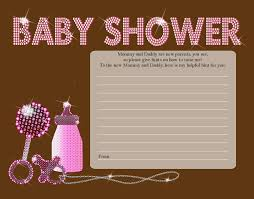 baby shower notes home design