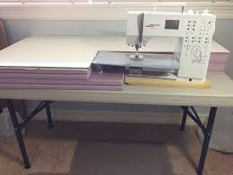 cheap sewing machine cabinets an affordable custom sewing machine table uniquely michelle