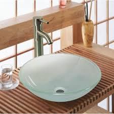 Bathroom Sink Design 20 Glass Sink Design Ideas For Bathroom Inspirationseek Com