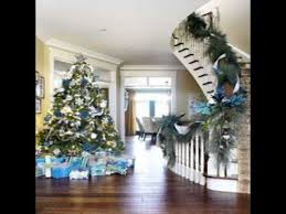 Images Of Blue Christmas Decorations by Blue And White Christmas Decorations Youtube