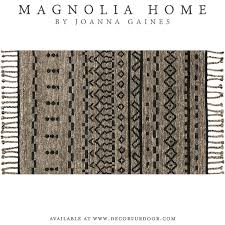 magnolia home by joanna gaines tulum rug in graphite black