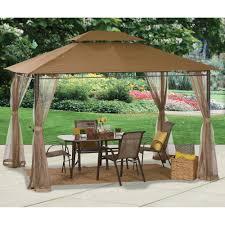 metal patio gazebo 10 x gazebo metal steel roof outdoor patio pergola canopy tent