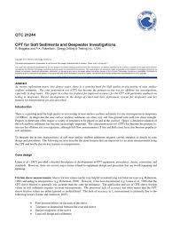 cpt offshore otc pdf soil mechanics geotechnical engineering