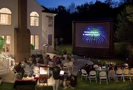 Backyard Projector Inflatable Movie Rentals Amazing Fun Jumpers