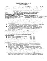 Baker Resume Sample by Virginia Stephens Baker Curriculum Vitae