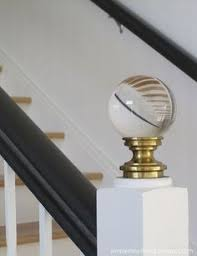diy staircase finials simple details staircases