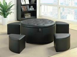 coffee table timeless black round ottoman coffee table with