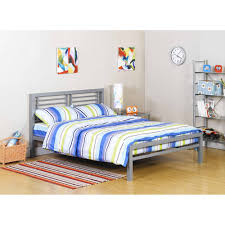 Full Platform Bed With Headboard Your Zone Metal Full Bed Multiple Colors Walmart Com