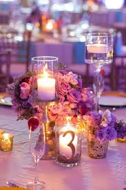 Centerpieces With Candles For Wedding Receptions by Chic Gold Aqua And Lavender Wedding Table Numbers