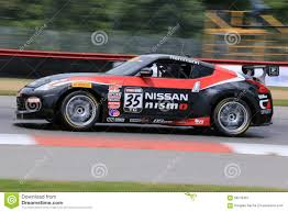 nissan race car pro nissan 370z race car on the course editorial photography