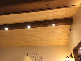 under cabinet lighting transformer pine faux beam with recessed lighting dave eddy