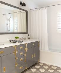 Bathroom Vanity Hardware by White Vanity With Brass Hardware Design Ideas