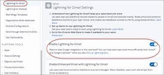 set up lightning for gmail and lightning sync unit salesforce