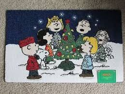 Snoopy Rug Snoopy Christmas Peanuts Gang Rug Woodstock 20x32 Charlie Brown