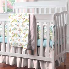 Mini Crib Bedding Set Boys Birds Mini Crib Bedding Set Birds In And Circles