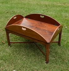 mahogany butler tray coffee table by henredon ebth
