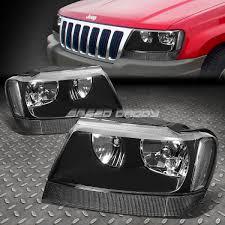 jeep black headlights for 1999 2004 jeep grand cherokee smoked housing amber corner