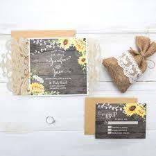 fancy invitations rustic watercolor sunflower wedding invitation on barn wood