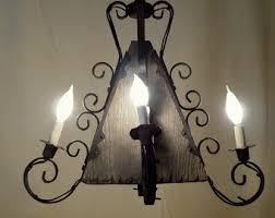 Chandelier Swag Lamp Vintage Rustic Chandelier Etsy
