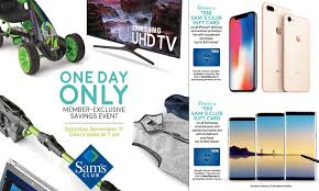 sam s club black friday 2017 deals hours time iphone x note 8