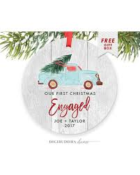 savings on personalized engagement ornament
