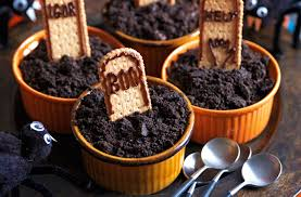Halloween Grave Cake Chocolate Mousse Grave Pots Tesco Real Food
