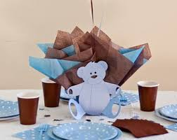 baby shower for teddy centerpieces with