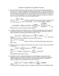 applications of exponential and logarithmic functions 11th