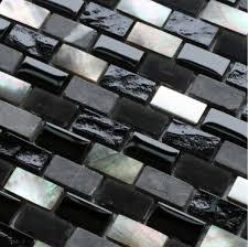 black glass tiles for kitchen backsplashes grey mosaic black glass mosaic kitchen backsplash tile sgmt093
