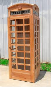 telephone booth unfinished wooden replica telephone booth
