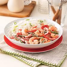 cuisiner poivron sauté de crevettes asperges et poivron en sauce soupers de
