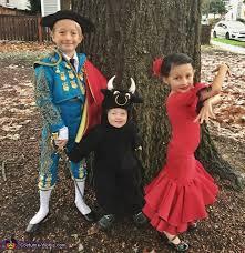 Bull Halloween Costume Matador Bull U0026 Flamenco Dancer Kids Costume
