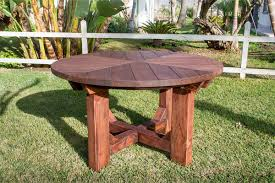 Outdoor Table Lazy Susan by The Sunset Patio Table Built To Last Decades Forever Redwood