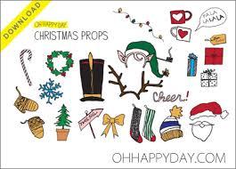 101 days of christmas printable photo booth props roundup