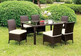 Outdoor Furniture Syracuse Ny by Comidore Espresso Patio Dining Room Set From Furniture Of America