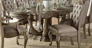 homelegance florentina dining table silver gold 1867 102