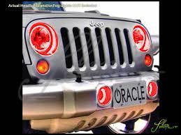Automotive Led Lights Bulbs by 07 16 Jeep Wrangler Led Halo Rings Head Fog Lights Bulbs