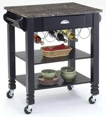 bernards kitchen carts caster kitchen island with marble top