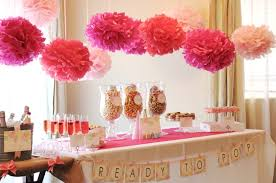 Pink And Gray Baby Shower Table Decorations Tall Pink Centerpieces