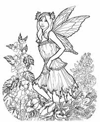 brown collection realistic fairy coloring pages for adults free brown